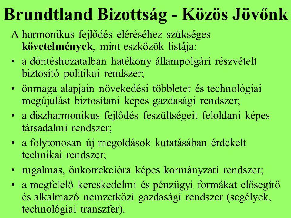 Brundtland Bizottság - Közös Jövőnk