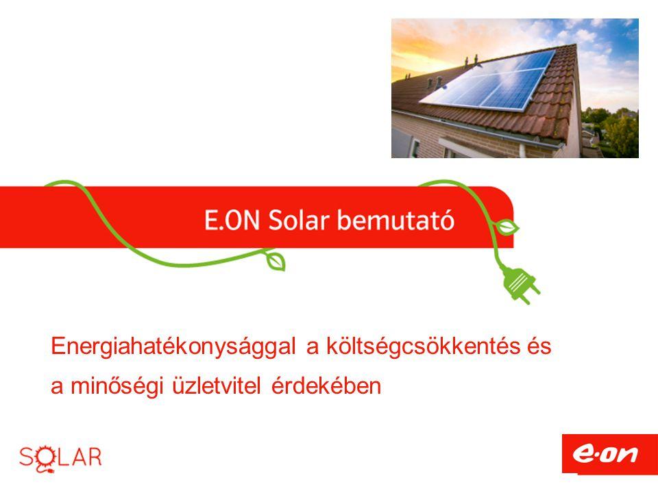 Energiahatékonysággal a költségcsökkentés és