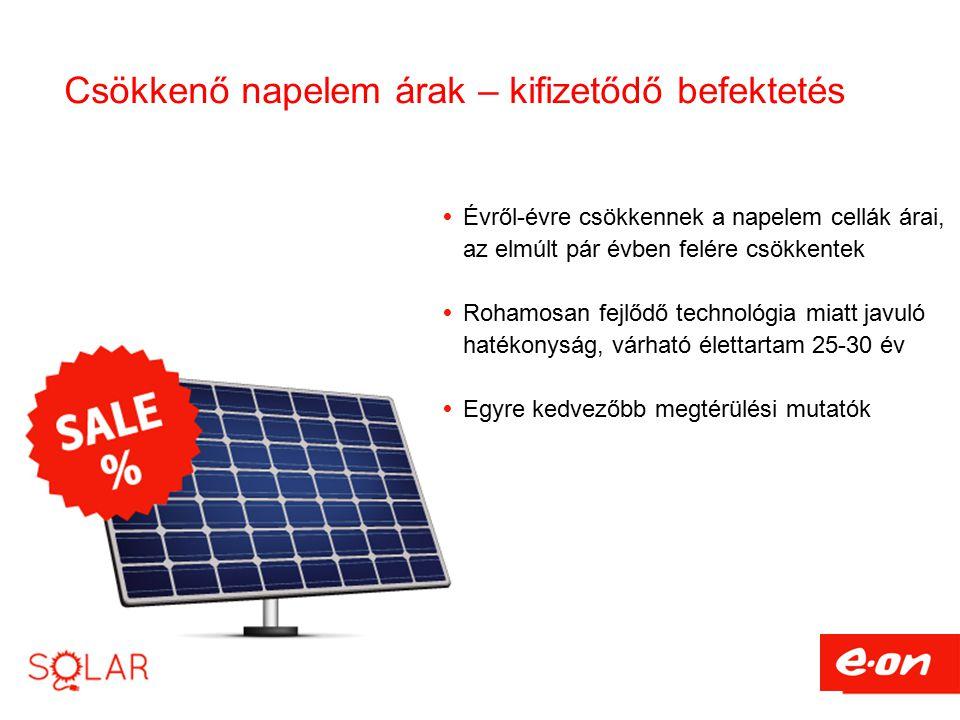 Csökkenő napelem árak – kifizetődő befektetés