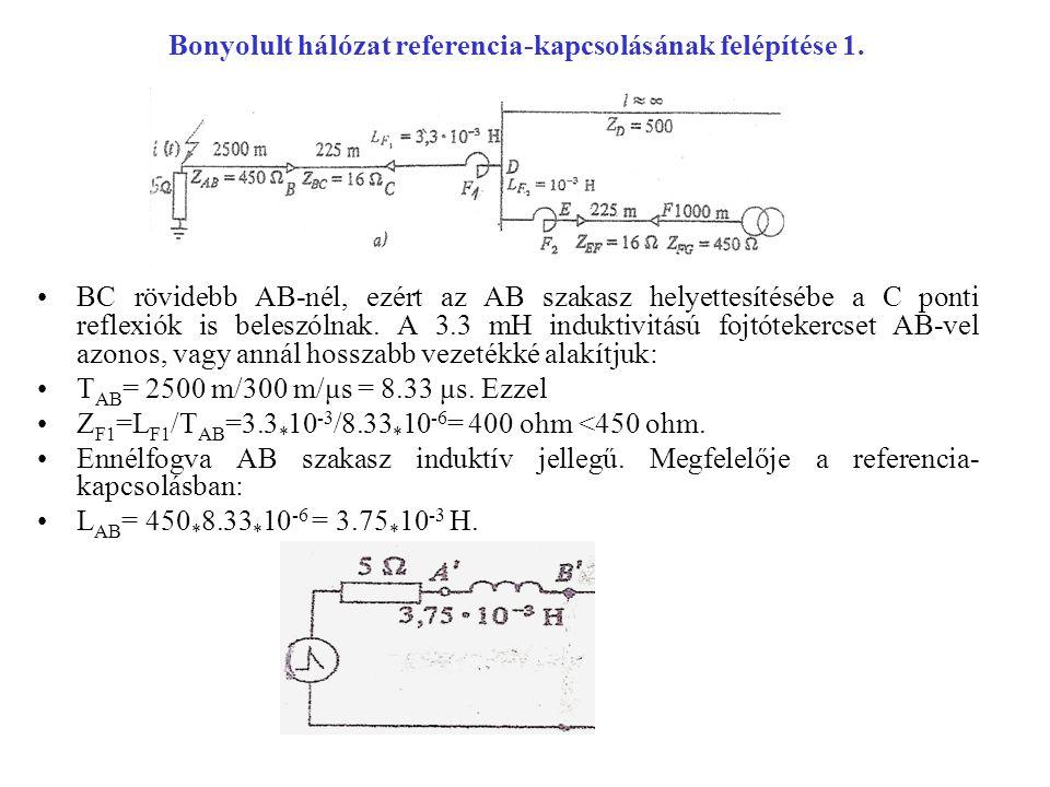 Bonyolult hálózat referencia-kapcsolásának felépítése 1.