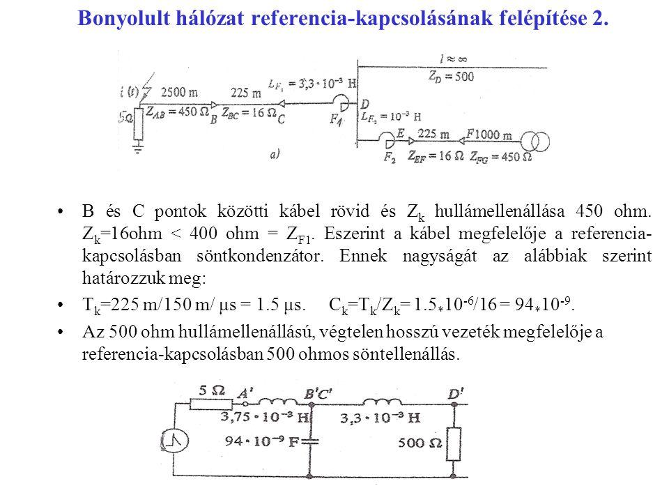 Bonyolult hálózat referencia-kapcsolásának felépítése 2.