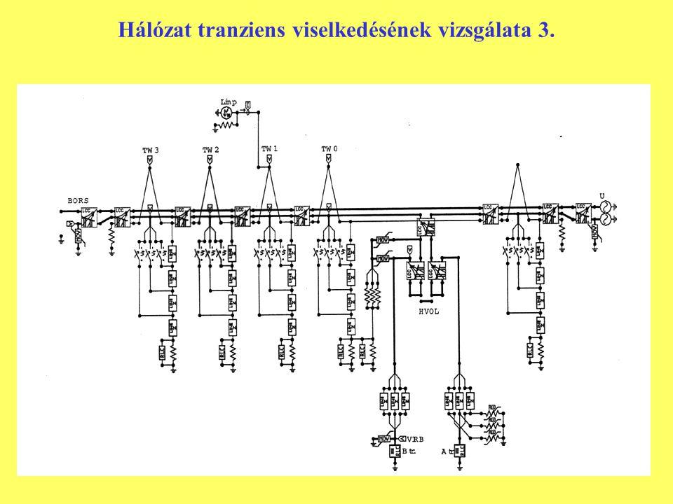 Hálózat tranziens viselkedésének vizsgálata 3.