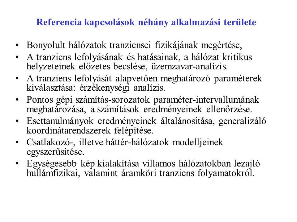 Referencia kapcsolások néhány alkalmazási területe