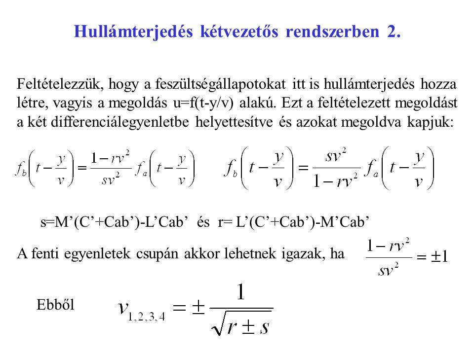 Hullámterjedés kétvezetős rendszerben 2.