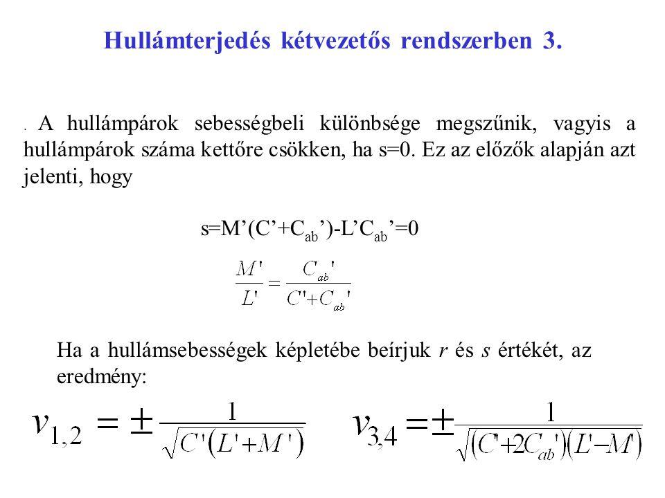 Hullámterjedés kétvezetős rendszerben 3.