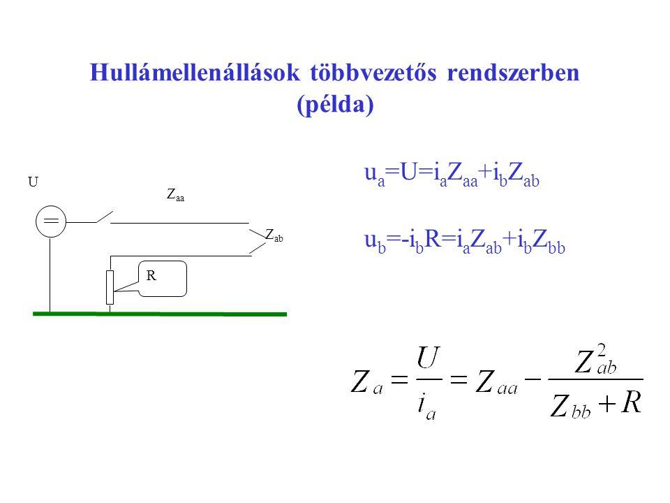 Hullámellenállások többvezetős rendszerben (példa)