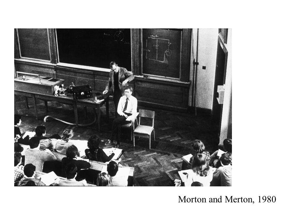 Morton and Merton, 1980