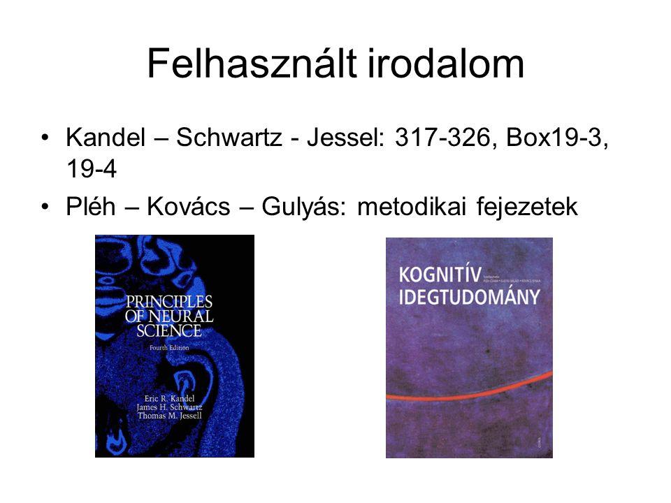 Felhasznált irodalom Kandel – Schwartz - Jessel: 317-326, Box19-3, 19-4.