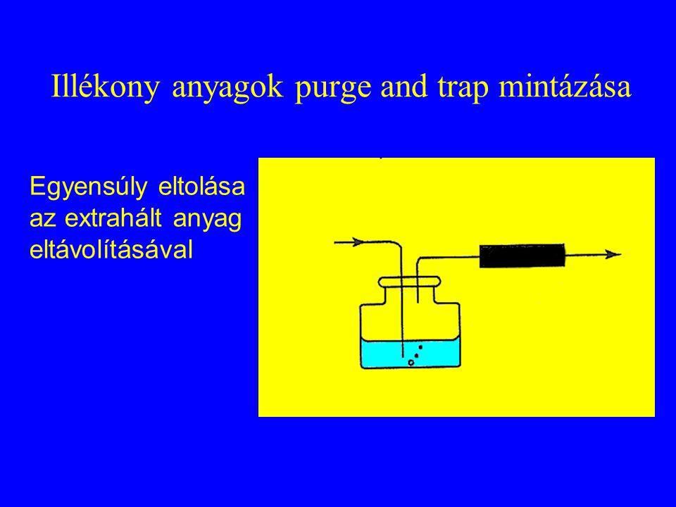 Illékony anyagok purge and trap mintázása