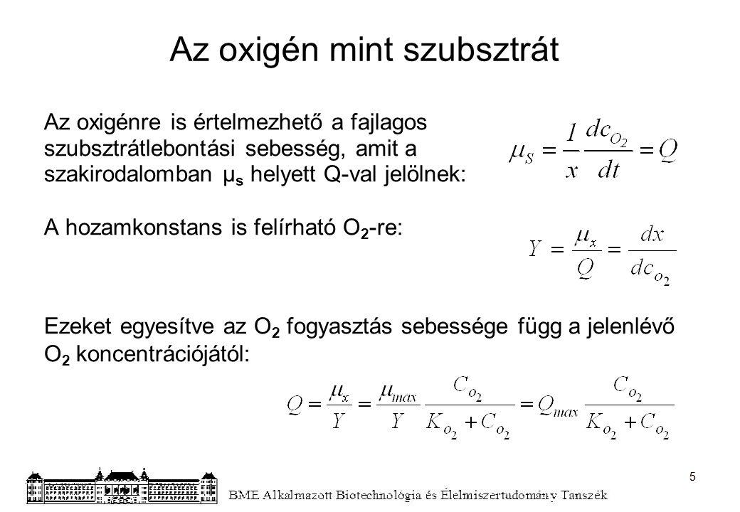 Az oxigén mint szubsztrát