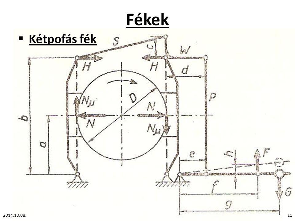 Fékek Kétpofás fék 2014.10.08.