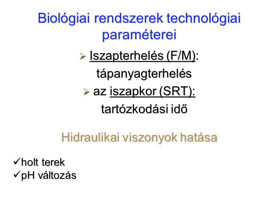 Biológiai rendszerek technológiai paraméterei