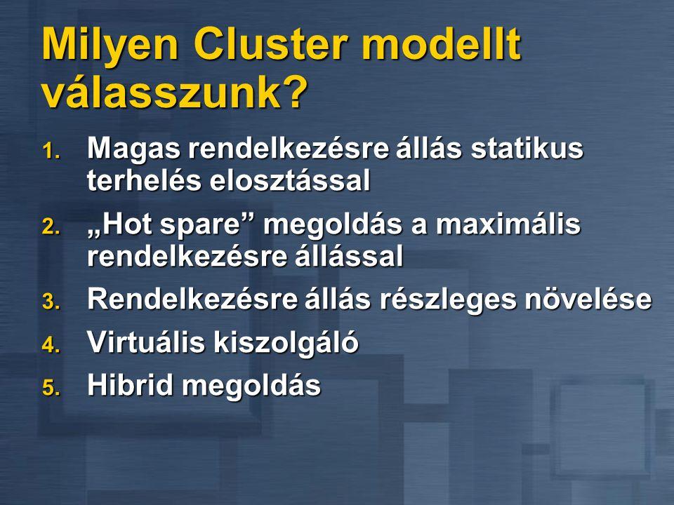 Milyen Cluster modellt válasszunk