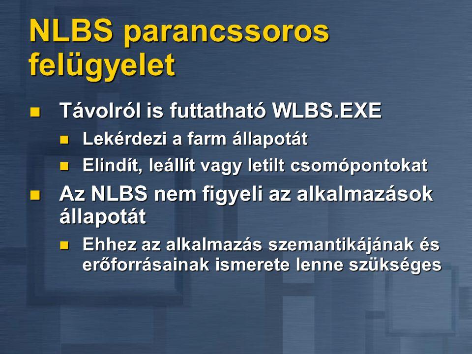 NLBS parancssoros felügyelet