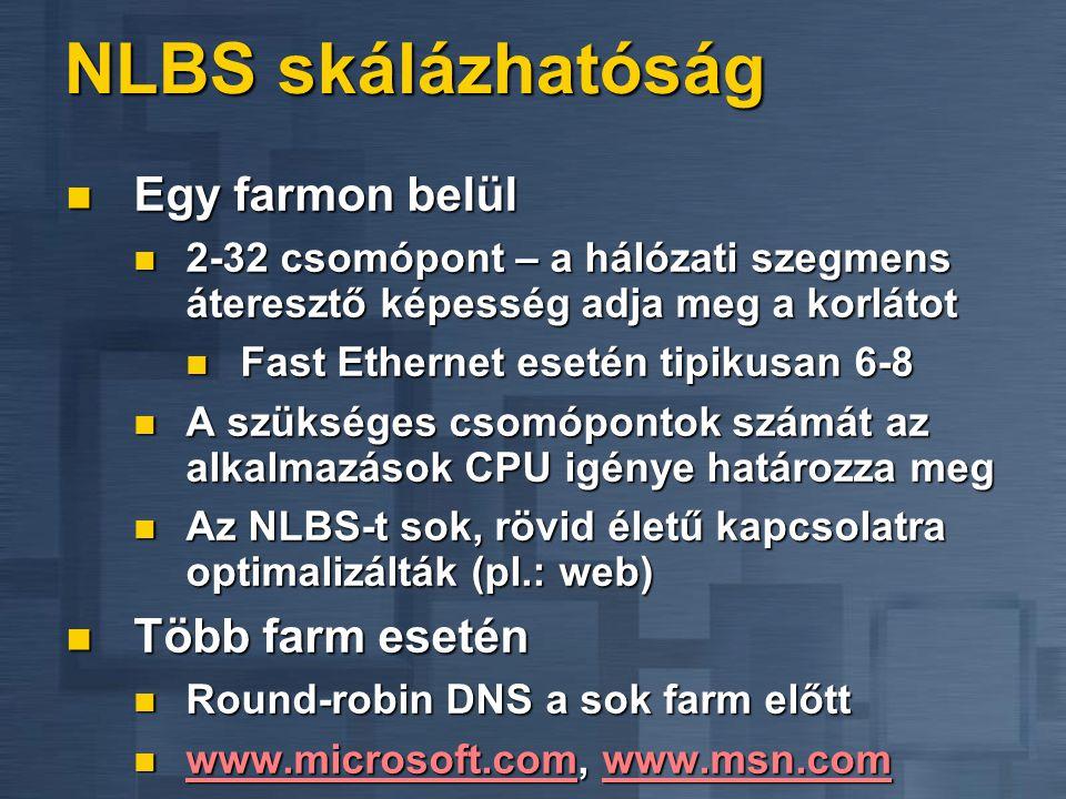 NLBS skálázhatóság Egy farmon belül Több farm esetén