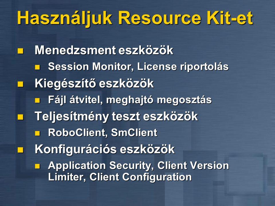 Használjuk Resource Kit-et