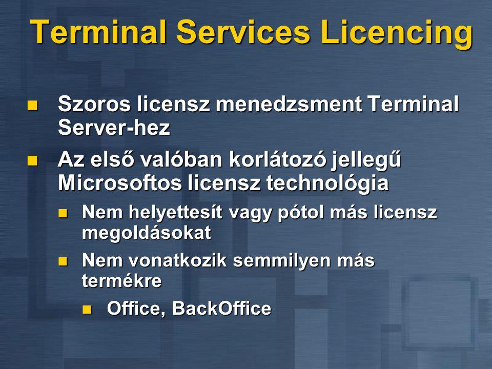 Terminal Services Licencing