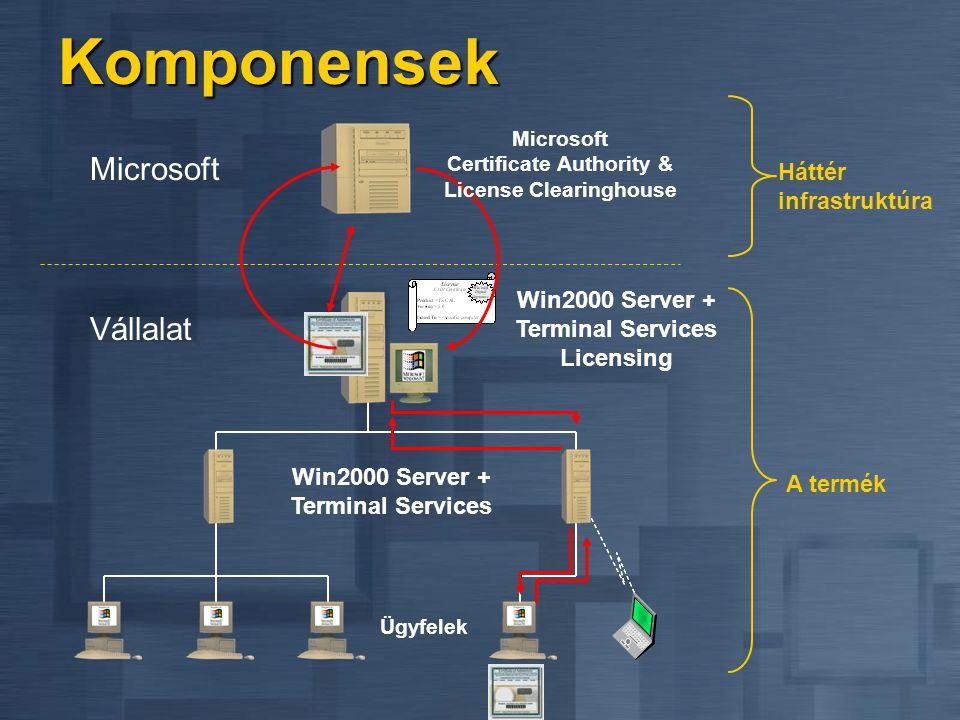A Windows 2000, mint alkalmazáskiszolgáló