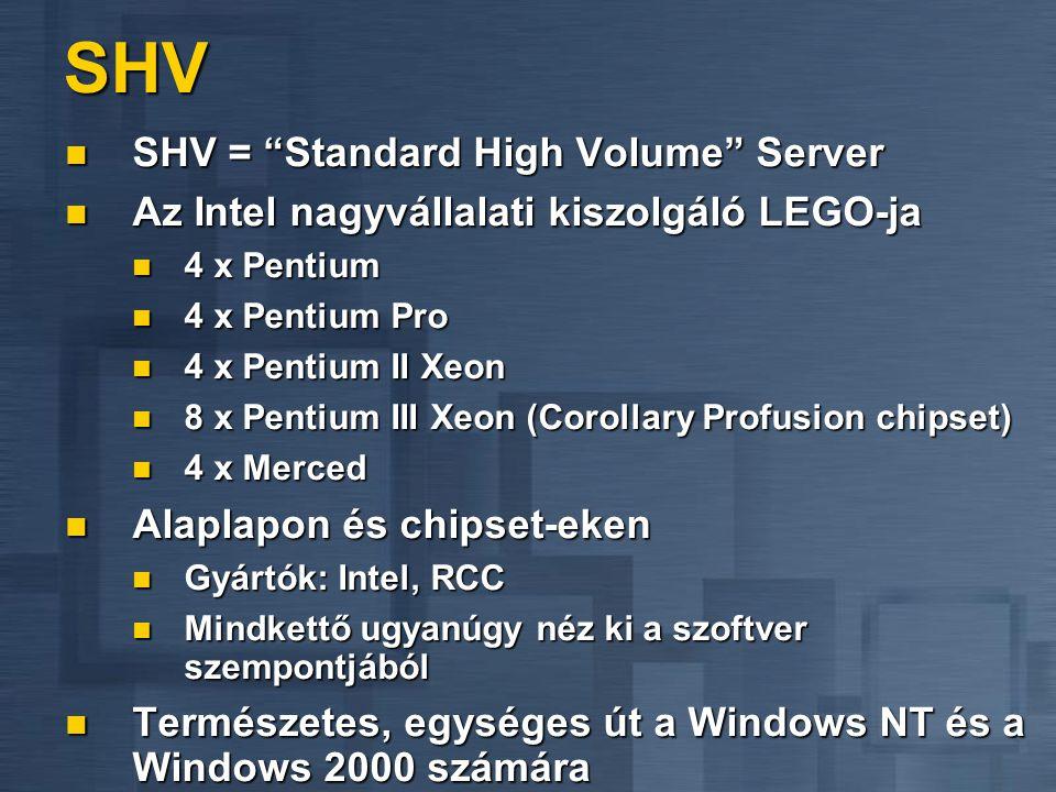 SHV SHV = Standard High Volume Server