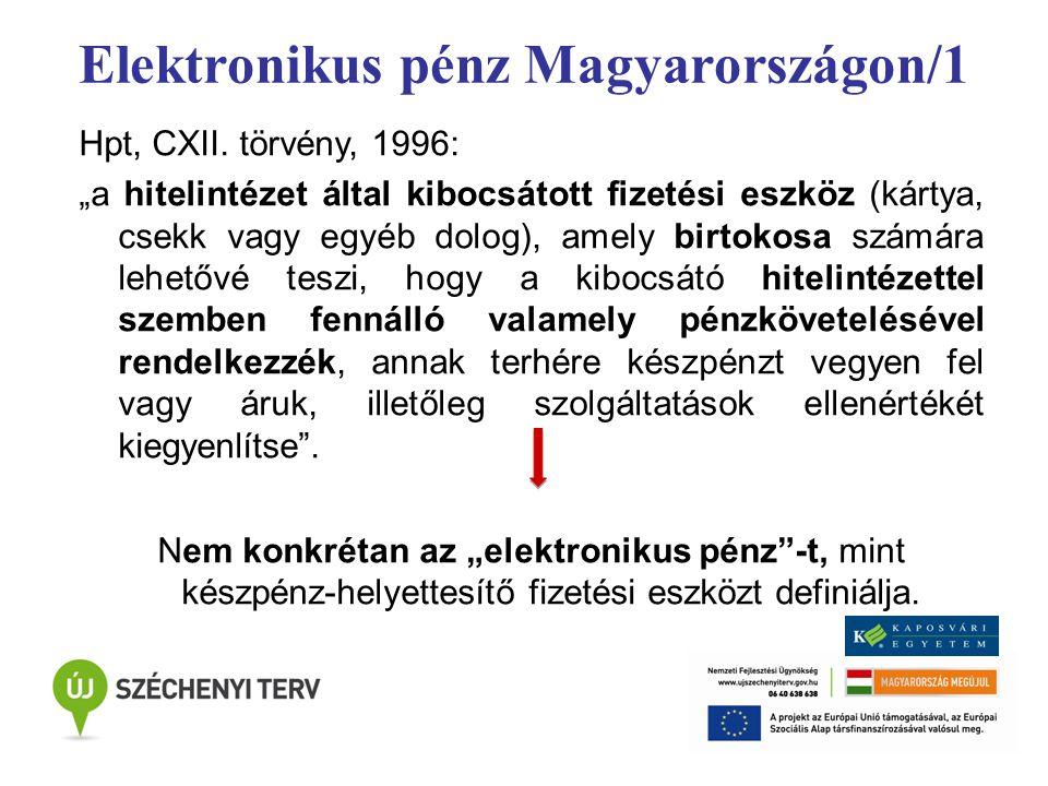 Elektronikus pénz Magyarországon/1