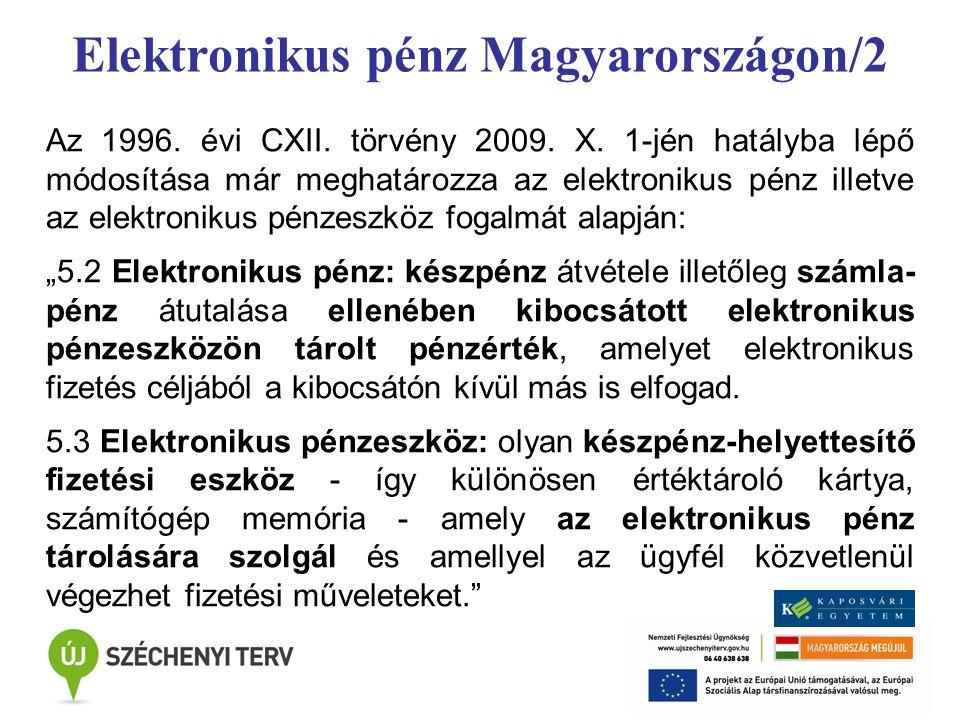Elektronikus pénz Magyarországon/2
