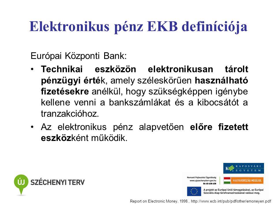 Elektronikus pénz EKB definíciója
