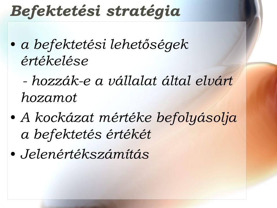 Befektetési stratégia