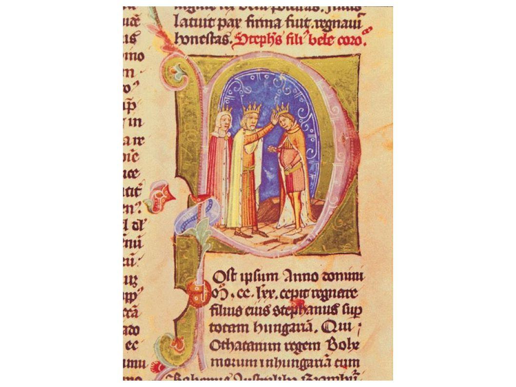 IV. Béla megkoronázza fiát, V. Istvánt