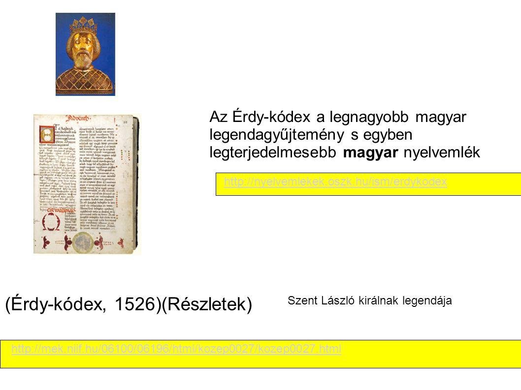 (Érdy-kódex, 1526)(Részletek)