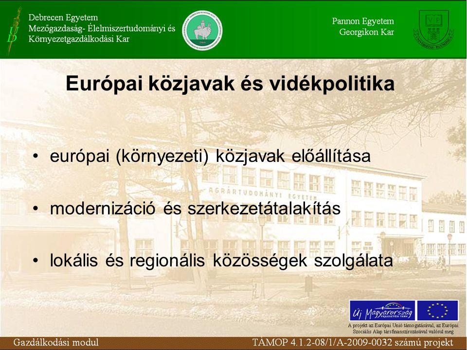 Európai közjavak és vidékpolitika