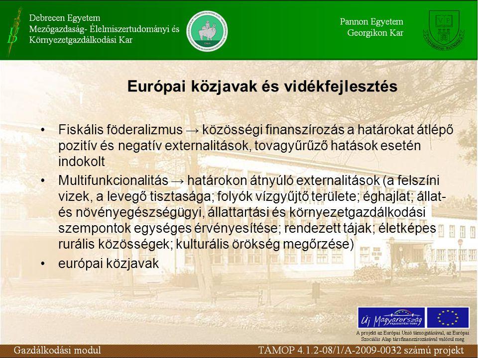 Európai közjavak és vidékfejlesztés