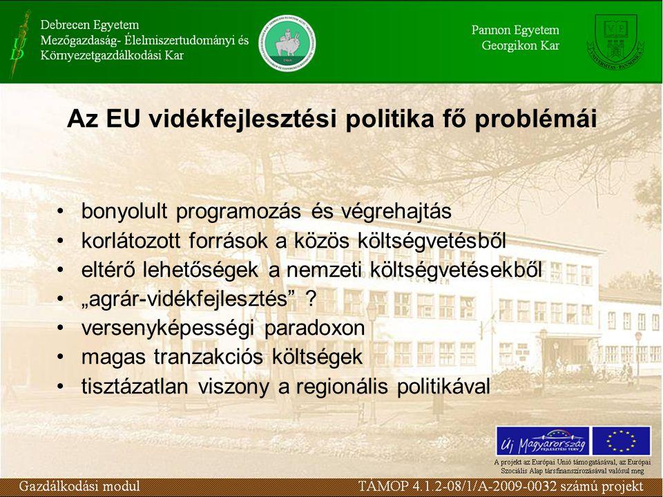 Az EU vidékfejlesztési politika fő problémái
