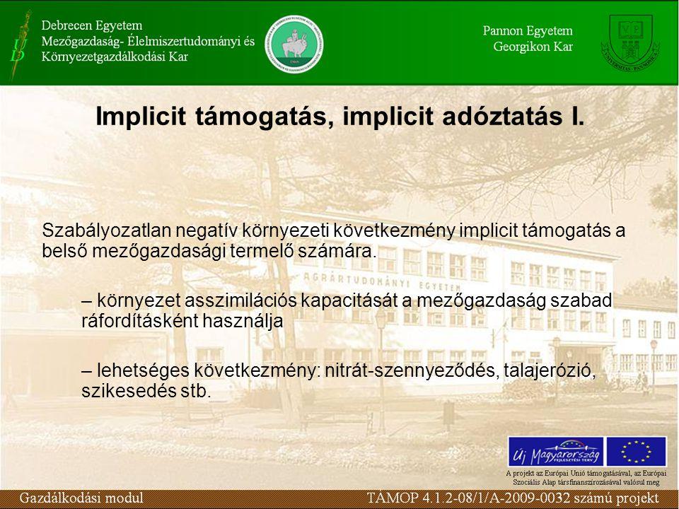 Implicit támogatás, implicit adóztatás I.