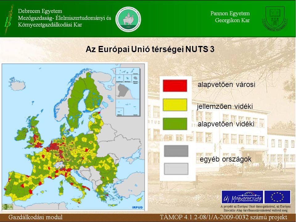 Az Európai Unió térségei NUTS 3