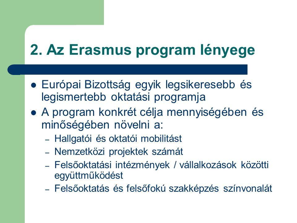 2. Az Erasmus program lényege