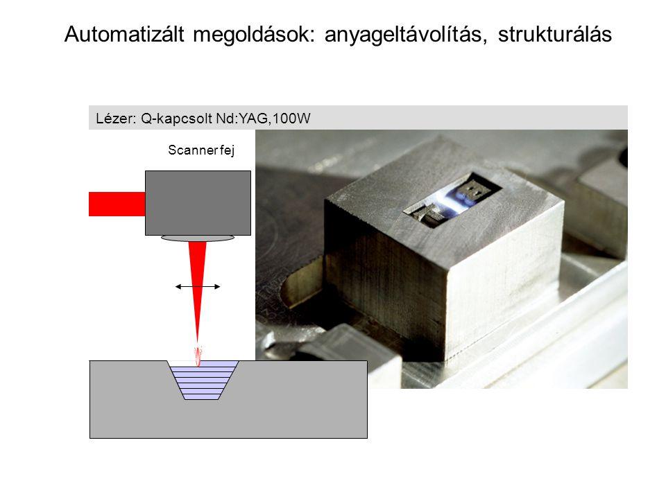 Automatizált megoldások: anyageltávolítás, strukturálás