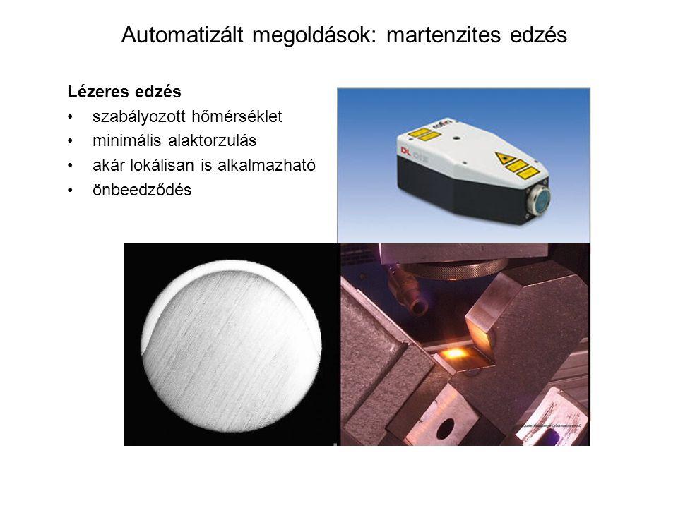 Automatizált megoldások: martenzites edzés