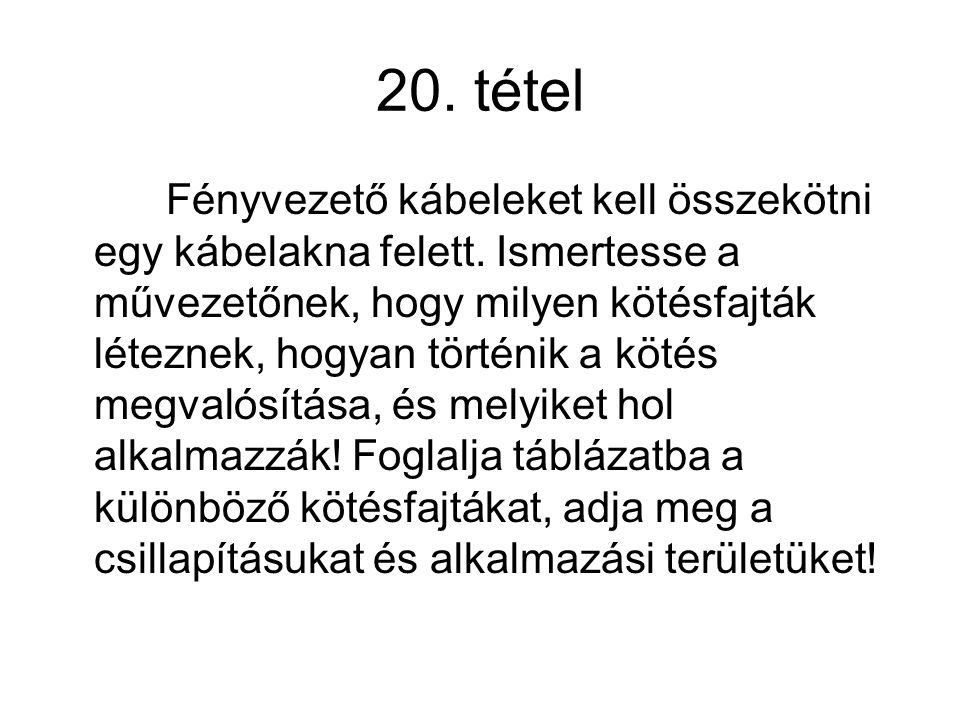 20. tétel