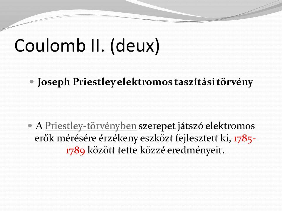 Joseph Priestley elektromos taszítási törvény