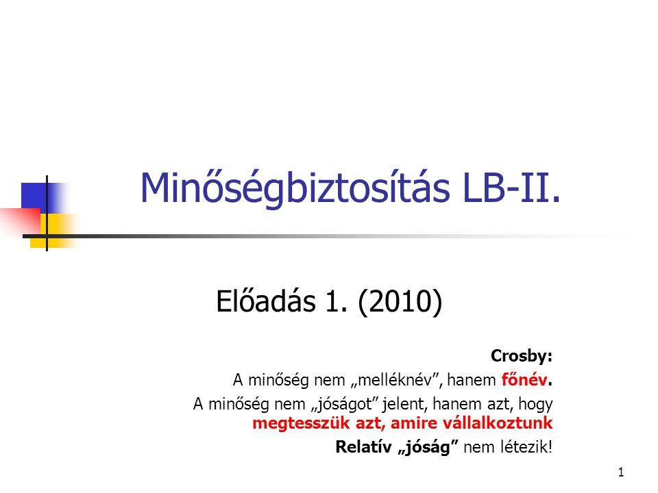Minőségbiztosítás LB-II.