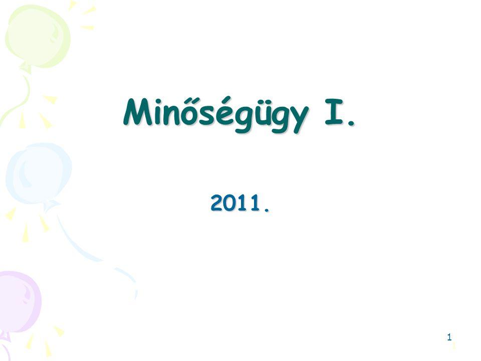 Minőségügy I. 2011. 1