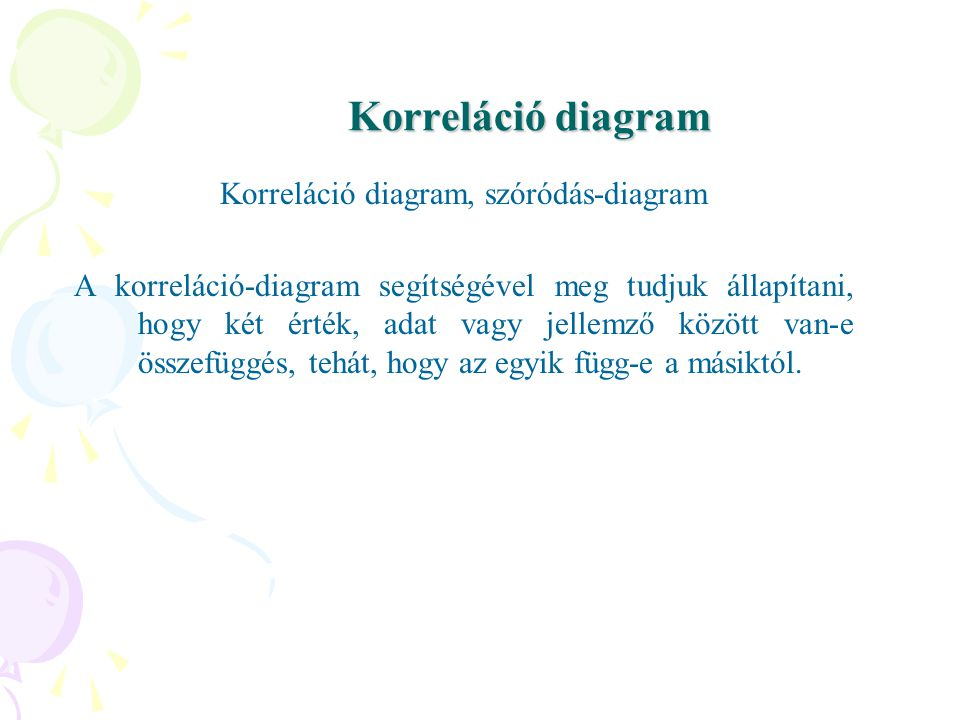 Korreláció diagram, szóródás-diagram