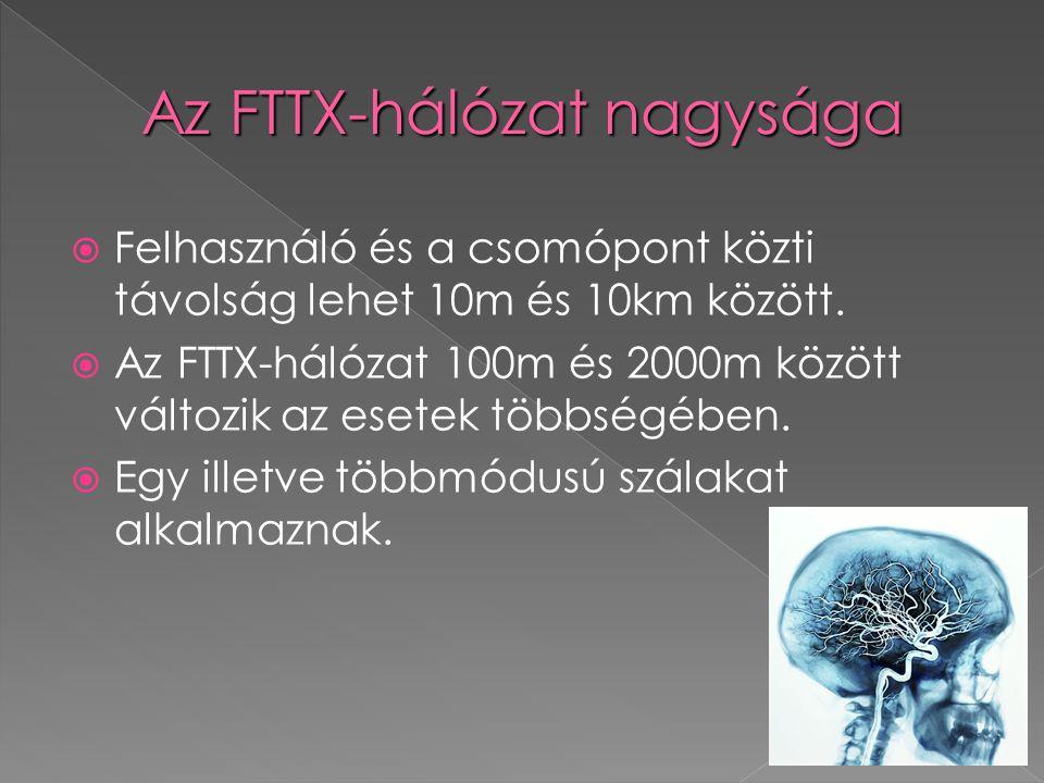 Az FTTX-hálózat nagysága