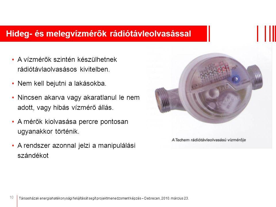 Hideg- és melegvízmérők rádiótávleolvasással