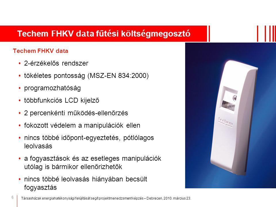 Techem FHKV data fűtési költségmegosztó