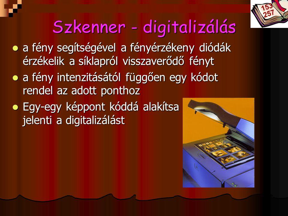 Szkenner - digitalizálás