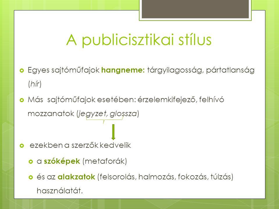 A publicisztikai stílus