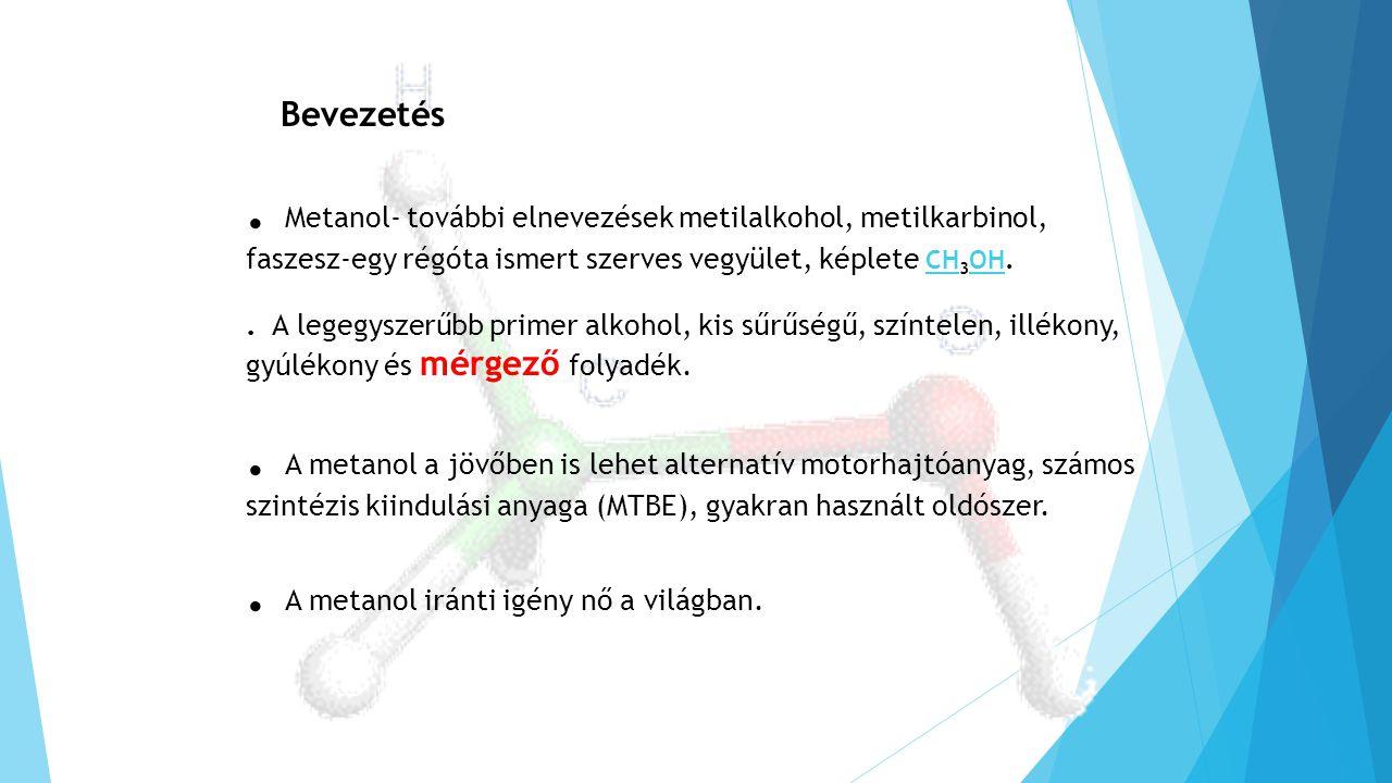 . A metanol iránti igény nő a világban.