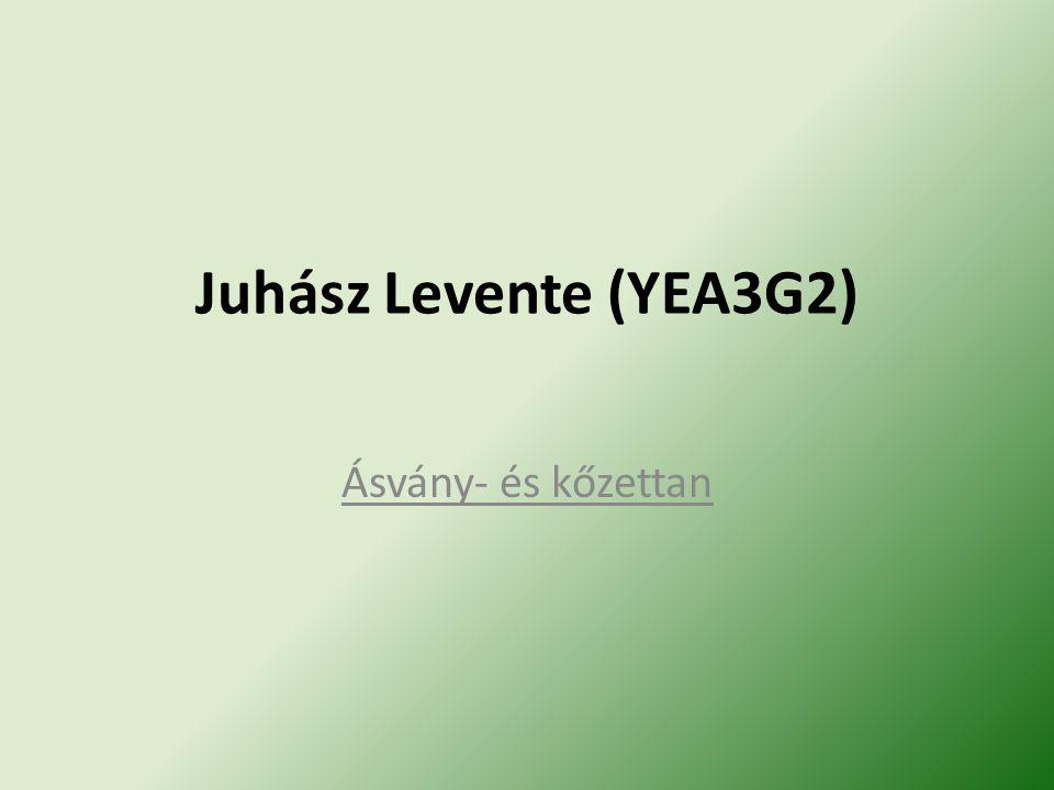 Juhász Levente (YEA3G2) Ásvány- és kőzettan