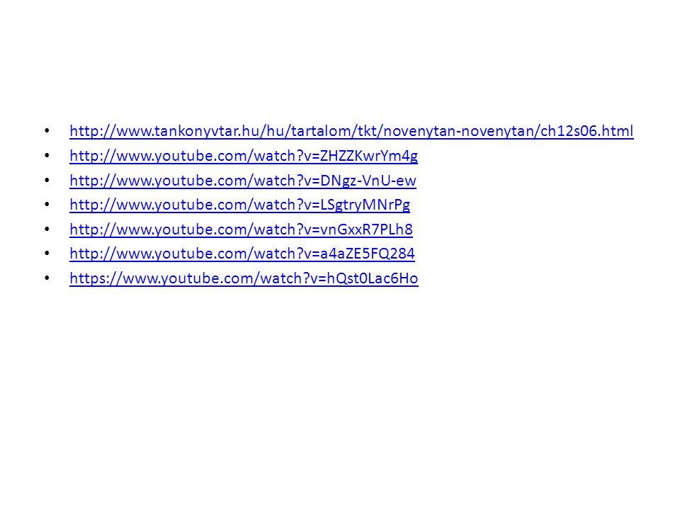 http://www.tankonyvtar.hu/hu/tartalom/tkt/novenytan-novenytan/ch12s06.html http://www.youtube.com/watch v=ZHZZKwrYm4g.